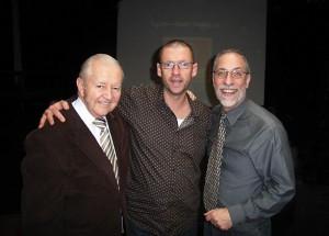 Patrick met Vic Firth en Dom Famularo